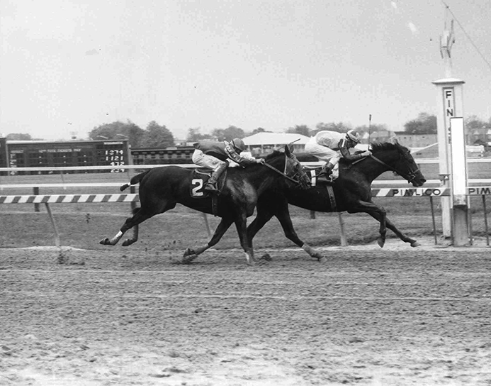 With her victory over Crackerfax in the 1975 Geisha Handicap at Pimlico (while carrying 130 pounds), Twixt surpassed Politely as the greatest money-winning mare ever bred in Maryland. It was also her 18th stakes win. (Double J Photo)