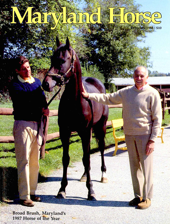 Trainer Dickie Small (left) and owner/breeder Robert Meyerhoff (right) with their stable star (Cappy Jackson photo)