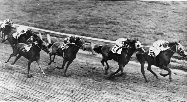 Nine times did Challedon score at three in 1939, being but once out of the money, his wins including some truly brilliant performances and included the Preakness Stakes.