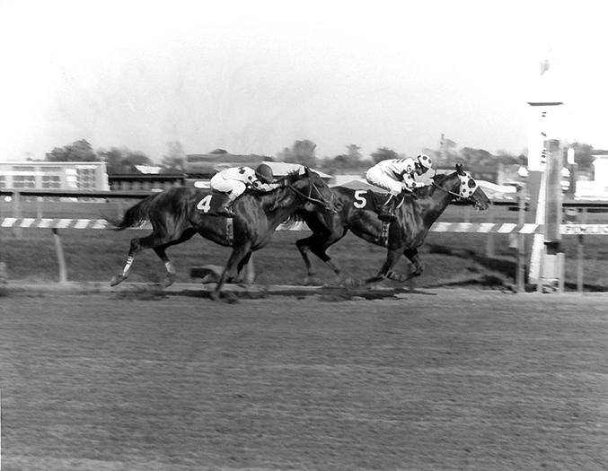 Little Bold John captured back-to-back runnings of Pimlico's Grade 3 Riggs Handicap, the second coming in 1988 while carrying top weight and defeating Along Came Jones. It was his third stakes win in five weeks.